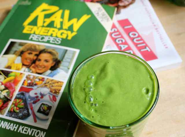 Raw Energy book and smoothie