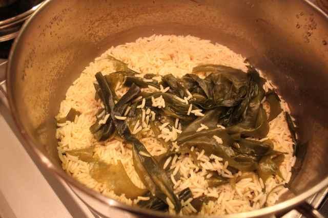 rice and wakame