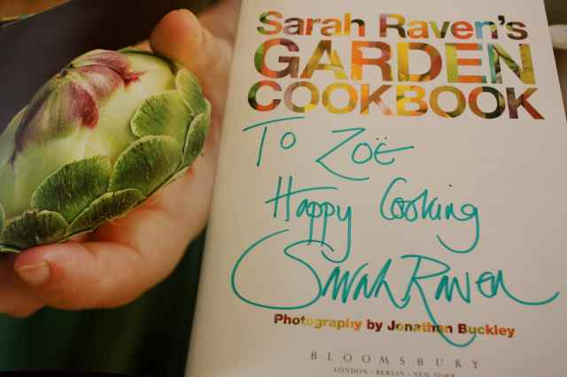 Sarah Raven's cookbook