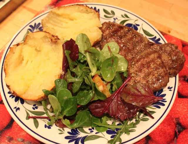 welcome home steak dinner