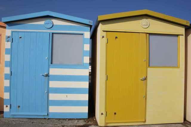 beach huts in Seaford