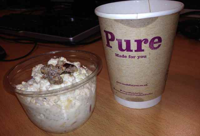 Bircher Muesli and tea