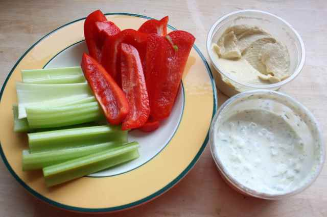 celery and dips