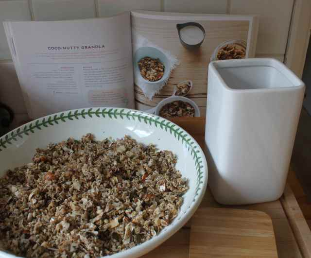 Coco nutty granola in large bowl