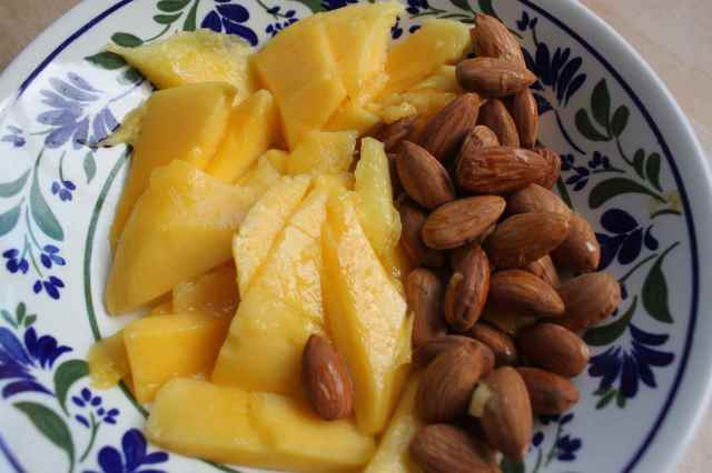 mango and almonds