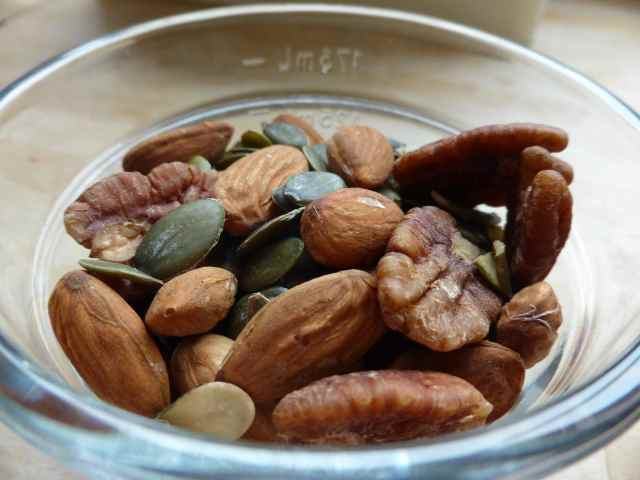 Mixed nuts in bowl