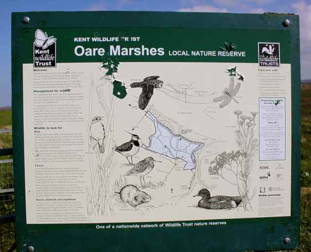 Oare marshes sign