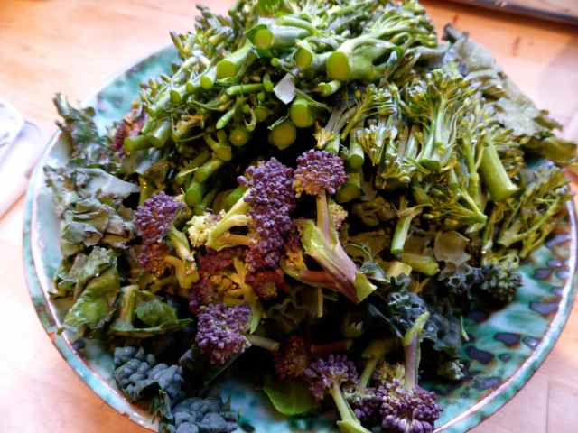 purple and green broccoli