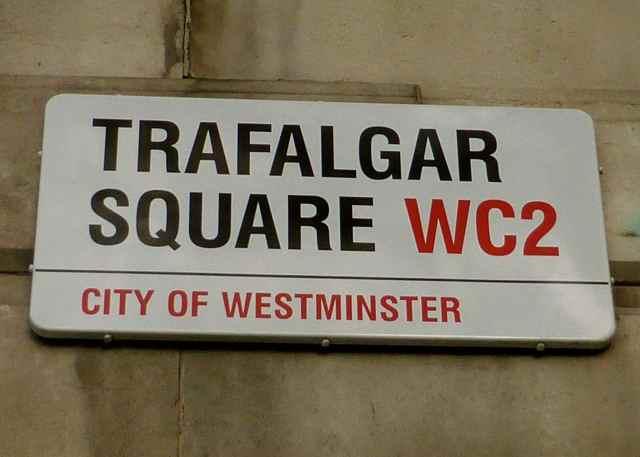 Trafalgar Square street sign