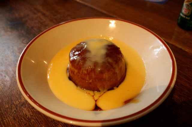 Treacle sponge and custard 1