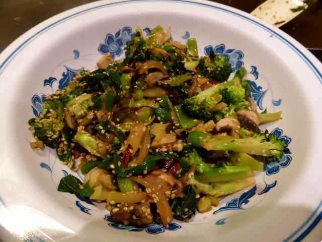 veg with sesame