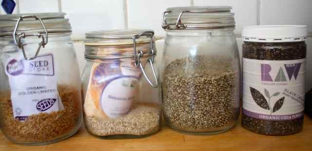 4 jars of seeds