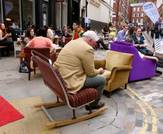 bus seat rocking chair