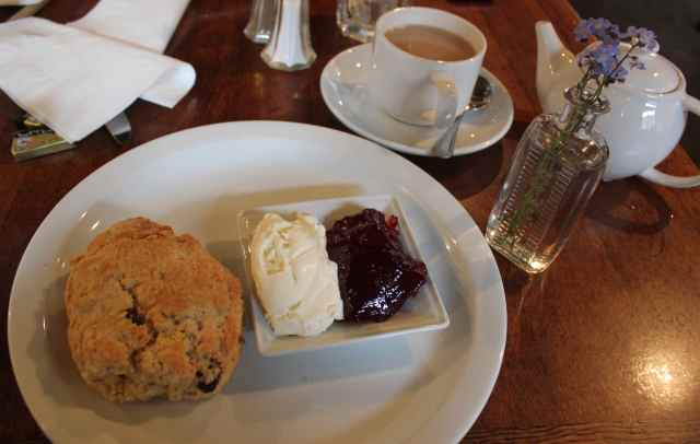 cream tea at Pilgrim's rest