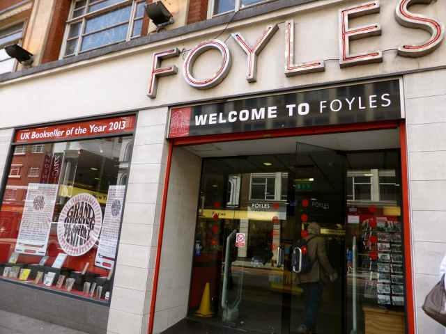 Foyles store front