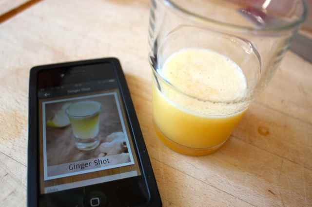 Ginger shot on app