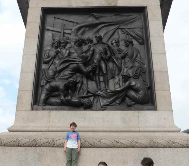 H at base of Nelson's column