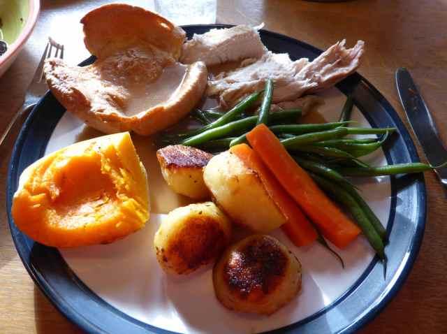 Helen's roast chicken dinner