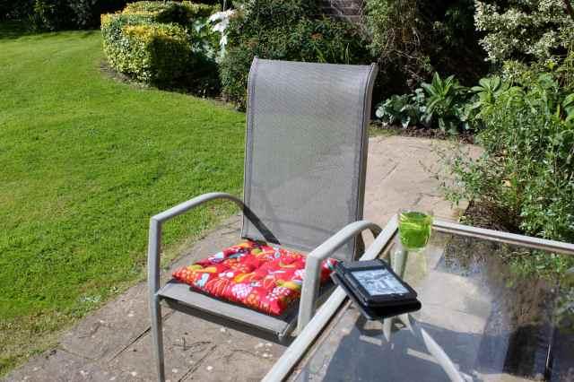 mint tea in garden