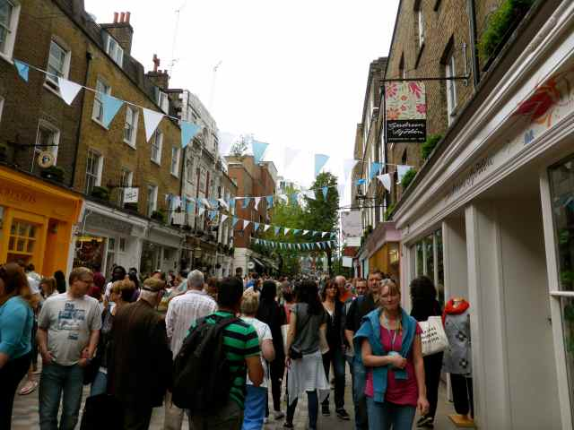 Monmouth St during festival