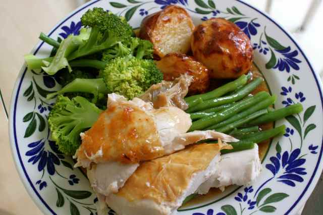 roast chicken dinner 11-5-14