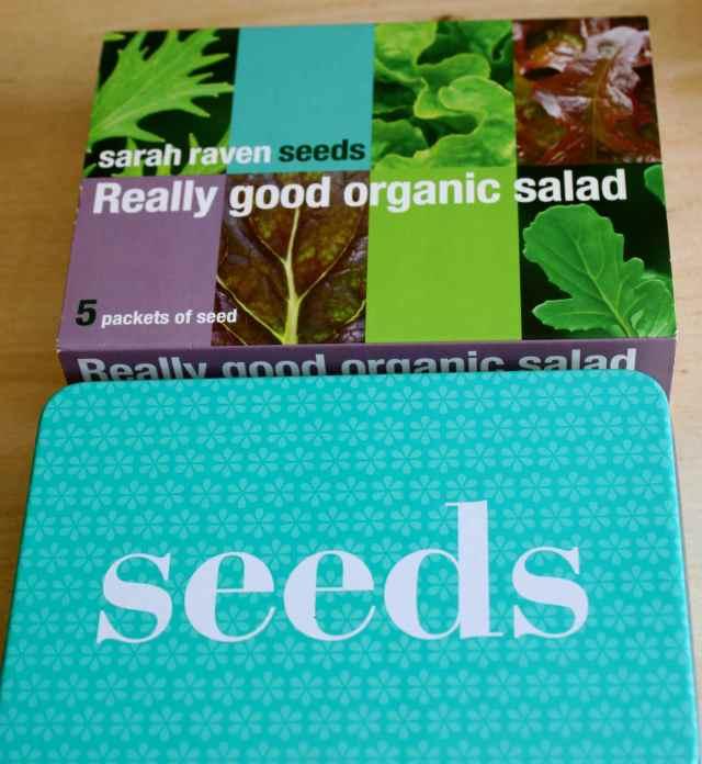 sarah raven organic salad leaves set