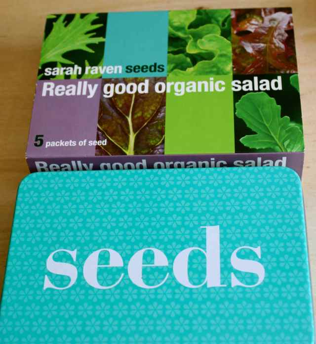 sarah raven organic salad leaves set