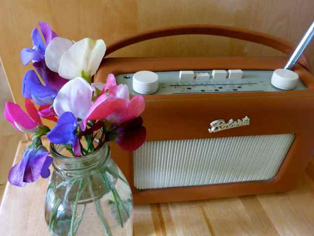 sweet peas and radio