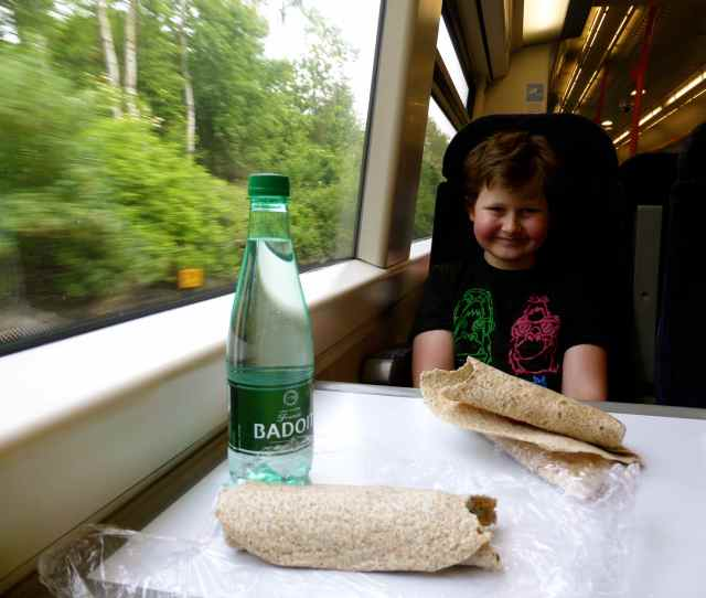Wraps on train