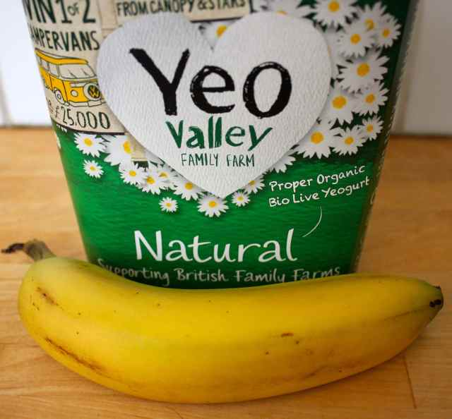 yogurt and banana