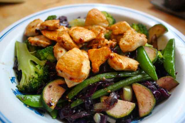 chicken and veg stir fry
