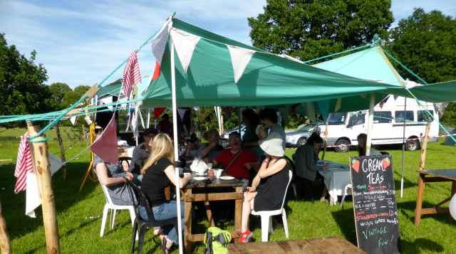 cream tea tent