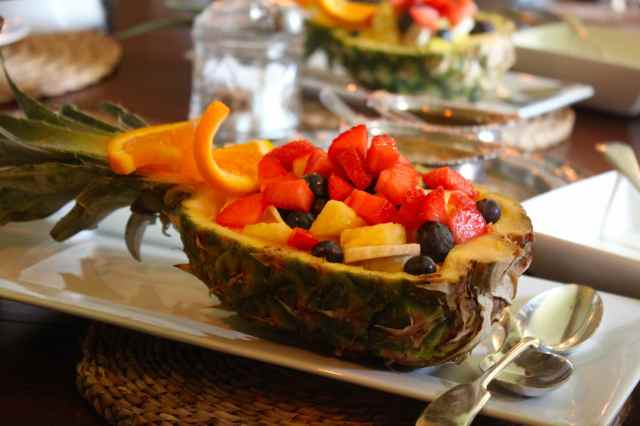 fruit in pineapple