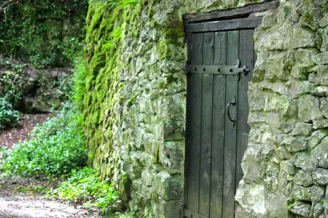 green door in wall