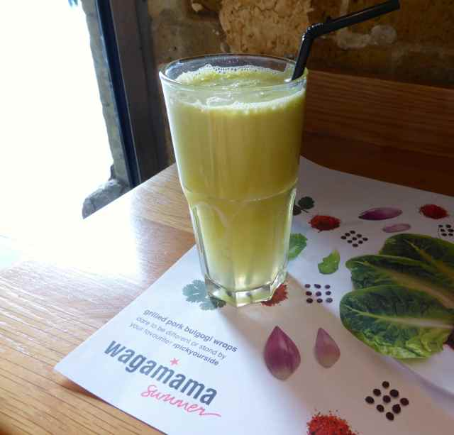 green juice wagamama