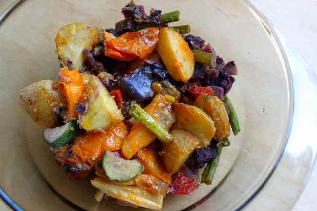 mixed left over veg