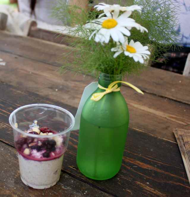 muesli and green jar