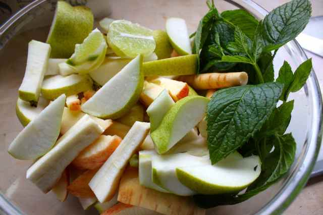 pear and parsnip ingredients