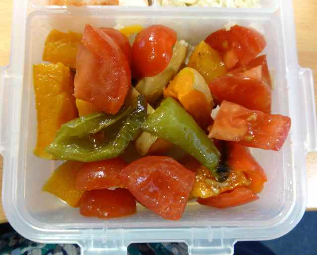 roast veg and toms