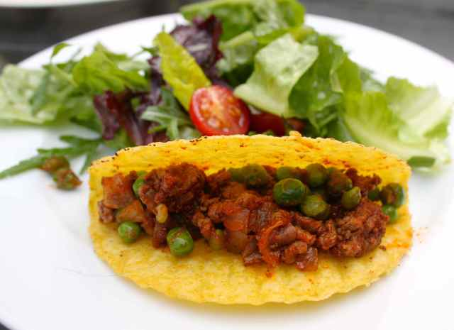tacos with peas