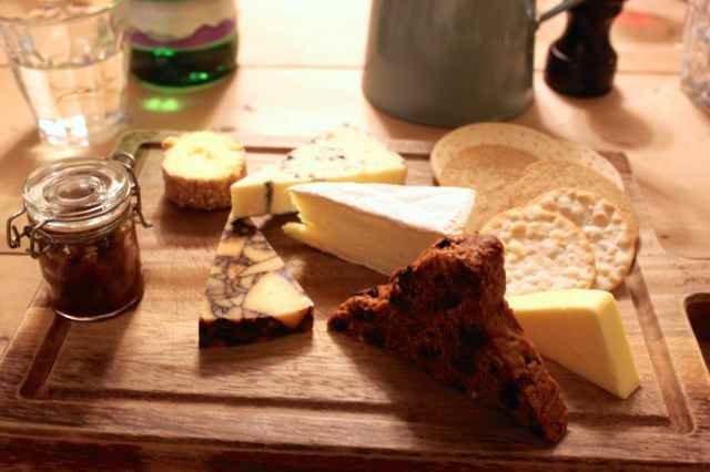 The George cheese platter