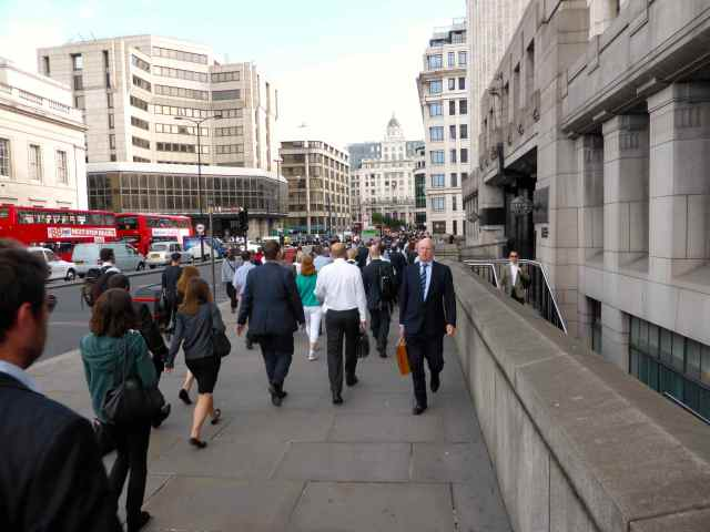 walking over London Bridge 1