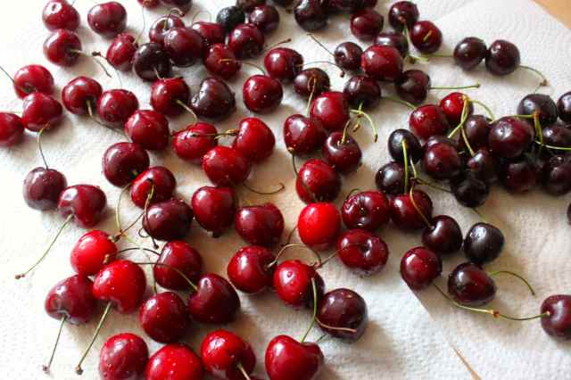 wash cherries
