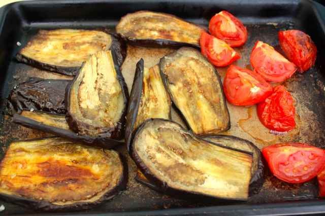 aubergine and tomato