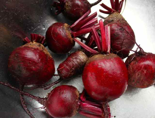 beetroots in sink