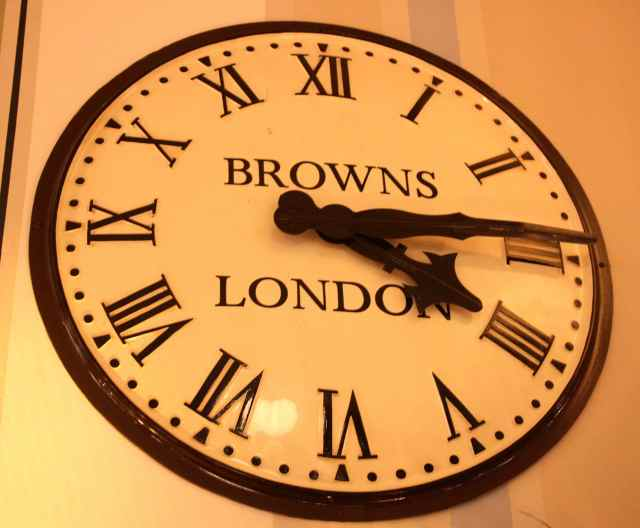 Browns clock
