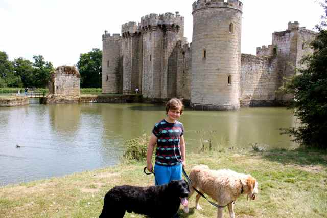 Harvey and dogs at Bodiam