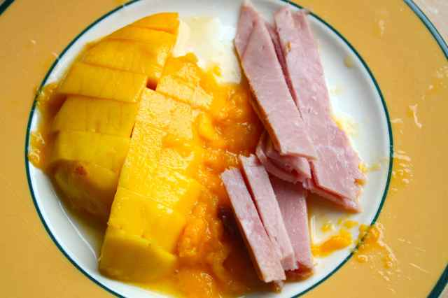 mango and ham