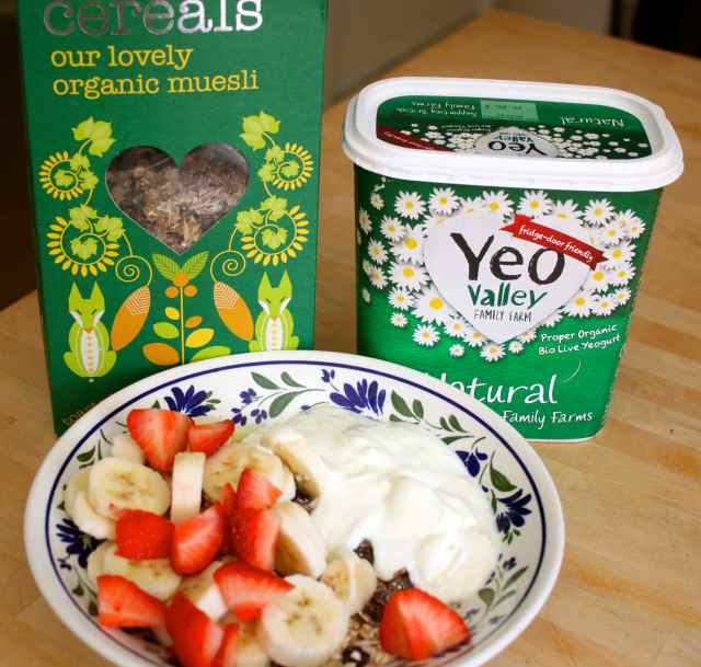 museli and yogurt