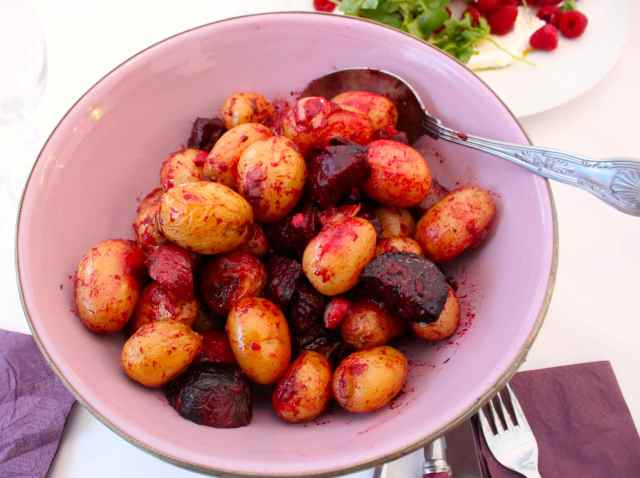 potato and beetroot salad